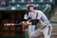 Jack Havey (26) of the Northwestern Wildcats follows through his swing during a game against the Missouri State Bears at Hammons Field on March 9, 2013 in Springfield, Missouri. (David Welker/Four Seam Images)