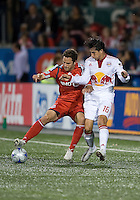 13 June2009:New York Red Bulls defender Alfredo Pacheco #16 and Toronto FC defender Kevin Harmse #5 in action during MLS action at BMO Field in Toronto, in a game between the New York Red Bulls and Toronto FC. Toronto FC won 2-1..