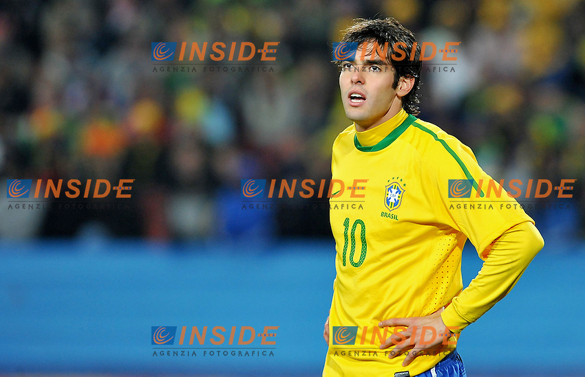 Kaka (Brasile)<br /> Brasile Cile 3-0 - Brazil vs Chile 3-0<br /> Campionati del Mondo di Calcio Sudafrica 2010 - World Cup South Africa 2010<br /> Ellis Park Stadium, Johannesburg, 28 / 06 / 2010<br /> &copy; Giorgio Perottino / Insidefoto