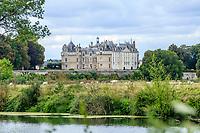 France, Sarthe (72), Le Lude, château et jardins du Lude et le Loir