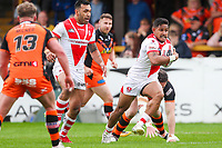 Picture by Alex Whitehead/SWpix.com - 12/05/2018 - Rugby League - Ladbrokes Challenge Cup - Castleford Tigers v St Helens - Mend-A-Hose Jungle, Castleford, England - St Helens' Ben Barba in action.