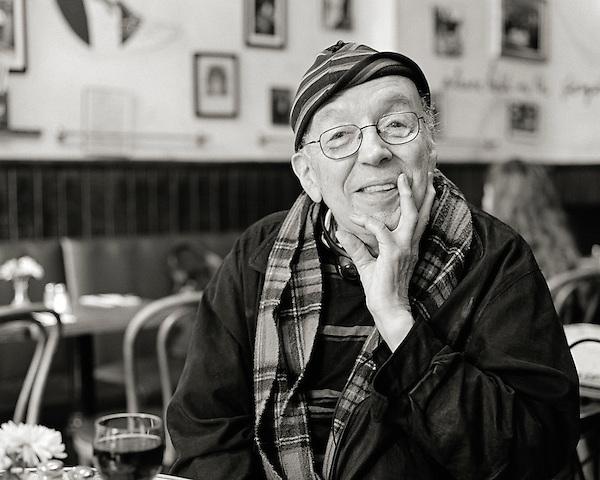 Taylor Mead, 2006.  Actor, poet, performer.  Associate of Andy Warhol.