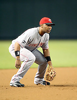 Edward Encarnacion / Cincinnati Reds playing against the Arizona Diamondbacks at Chase Field, Phoenix, AZ - 09/12/2008..Photo by:  Bill Mitchell/Four Seam Images