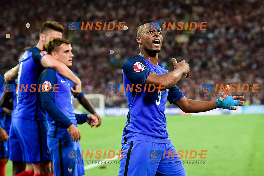 Esultanza Gol Antoine Griezmann (France) Goal celebration<br /> Marseilles 07-07-2016 Stade Velodrome Football Euro2016 Germany - France / Germania - Francia Semi-finals / Semifinali <br /> Foto  JB Autissier Panoramic / Insidefoto