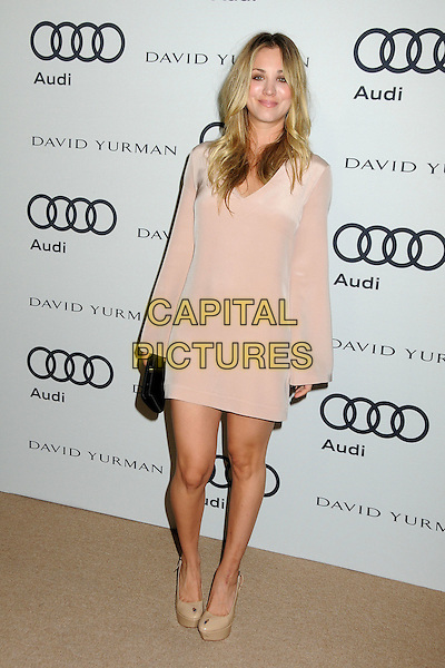 Kaley Cuoco.Audi and David Yurman Emmy Week 2011 Kick Off Party held at Cecconi's, West Hollywood, California, USA..September 11th, 2011.full length pink beige dress black clutch bag.CAP/ADM/BP.©Byron Purvis/AdMedia/Capital Pictures.
