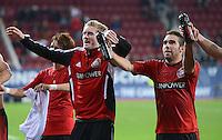 FUSSBALL   1. BUNDESLIGA  SAISON 2012/2013   5. Spieltag FC Augsburg - Bayer 04 Leverkusen           26.09.2012 Jubel nach dem Sieg Andre Schuerrle und Daniel Carvajal (v.li. Bayer 04 Leverkusen)