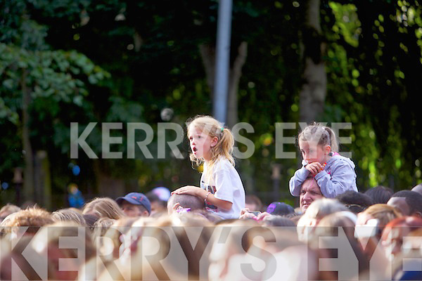 The crowd attending the JLS concert at the Rose of Tralee Festival on Denny Street on Friday the 16th August.