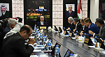 Palestinian Prime Minister Rami Hamdallah chairs a meeting with council of Ministers in the West Bank city of Ramallah on November 13, 2018. Photo by Prime Minister Office