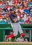 11 September 2016: Washington Nationals first baseman Ryan Zimmerman in action against the Philadelphia Phillies at Nationals Park in Washington, DC. The Nationals edged out the Phillies 3-2 to take the rubber match of their 3-game series. Mandatory Credit: Ed Wolfstein Photo *** RAW (NEF) Image File Available ***