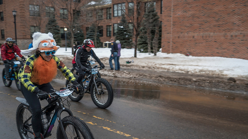 906 Polar Roll winter bike race in Marquette, Michigan.