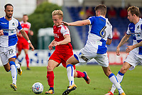 Kyle Dempsey of Fleetwood Town takes on Ryan Sweeney of Bristol Rovers during the Sky Bet League 1 match between Bristol Rovers and Fleetwood Town at the Memorial Stadium, Bristol, England on 26 August 2017. Photo by Mark  Hawkins.