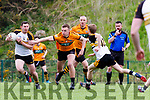 Dr Crokes Daithi Casey  breaks from Michael O'Donnell Austin Stacks during their Club Championship clash in Killarney on Sunday