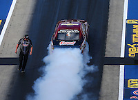 Jun 17, 2016; Bristol, TN, USA; NHRA pro stock driver Greg Anderson during qualifying for the Thunder Valley Nationals at Bristol Dragway. Mandatory Credit: Mark J. Rebilas-USA TODAY Sports