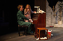 London, UK. 17.07.2014. Mountview Academy of Theatre Arts presents THE HOUSE OF BLUE LEAVES, by John Guare, directed by Jacqui Somerville, at the Unicorn Theatre, as part of the Postgraduate Season 2014. Picture shows: Tim Gibson (Artie Shaughnessy) and Rosalinde Case (Bananas Shaughnessy). Photograph © Jane Hobson.
