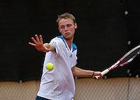 August 6, 2014, Netherlands, Rotterdam, TV Victoria, Tennis, National Junior Championships, NJK,  Bas  Louwers (NED)<br /> Photo: Tennisimages/Henk Koster