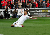 Pictured: Stephen Dobbie celebrates his goal <br />
