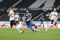 Preston North End's Sean Maguire misses a chance<br /> <br /> Photographer Mick Walker/CameraSport<br /> <br /> Carabao Cup Second Round Northern Section - Derby County v Preston North End - Tuesday 15th September 2020 - Pride Park Stadium - Derby<br />  <br /> World Copyright © 2020 CameraSport. All rights reserved. 43 Linden Ave. Countesthorpe. Leicester. England. LE8 5PG - Tel: +44 (0) 116 277 4147 - admin@camerasport.com - www.camerasport.com