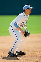 Third baseman Levi Michael #6 of the North Carolina Tar Heels on defense against the Florida State Seminoles at Boshamer Stadium March 20, 2010, in Chapel Hill, North Carolina.  Photo by Brian Westerholt / Four Seam Images