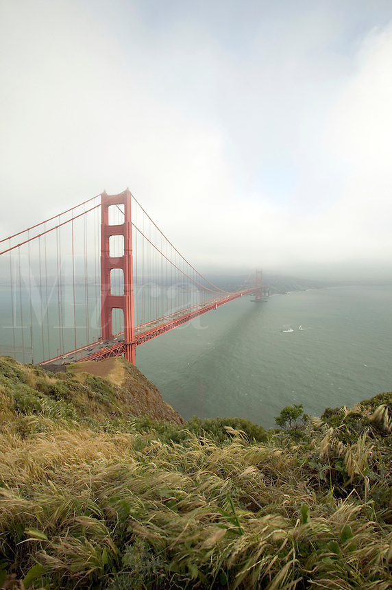 Fog sets in around Golden Gate Bridge in San Francisco