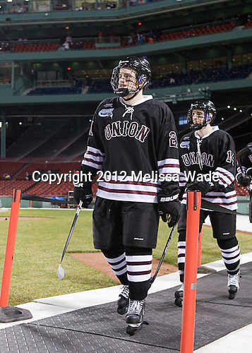 Wayne Simpson (Union - 21), Shayne Gostisbehere (Union - 14) - The Union College Dutchmen defeated the Harvard University Crimson 2-0 on Friday, January 13, 2011, at Fenway Park in Boston, Massachusetts.