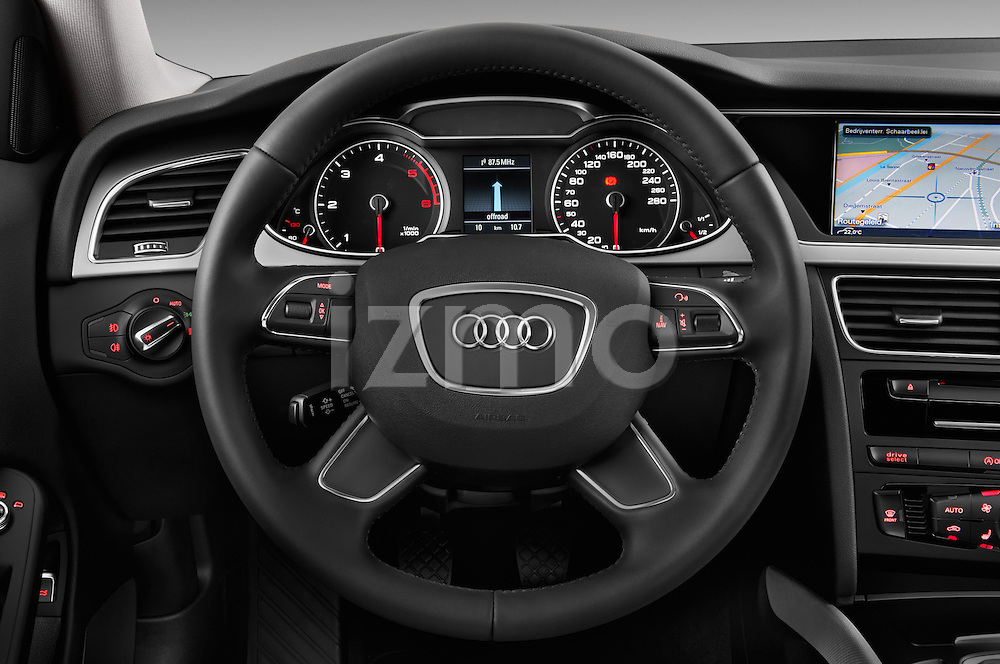 Steering wheel view of a 2014 Audi A4 AMBITION LUXE 4 Door Sedan 2WD
