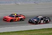 #7: Justin Allgaier, JR Motorsports, Chevrolet Camaro BRANDT Professional Agriculture and #19: Brandon Jones, Joe Gibbs Racing, Toyota Supra 1st Foundation