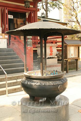 Mar 8, 2006; Tokyo, JPN; Ueno.Bronze incense bowl at the Gojo Tenjinsha.  Ueno Park...Photo credit: Darrell Miho