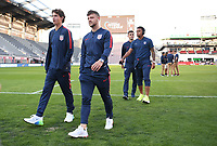 WASHINGTON D.C. - OCTOBER 11: Paul Arriola #7 of the United States during warm up prior to their Nations League game versus Cuba at Audi Field, on October 11, 2019 in Washington D.C.