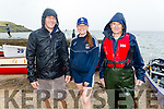 Paul Burke, Neidin O'Sullivan (Flesk Valley RC) and Donal Kelly at the Fenit Regatta on Sunday.
