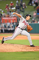 Southern Divisions pitcher Freddy Tarnok (20) of the Rome Braves delivers a pitch during the South Atlantic League All Star Game at First National Bank Field on June 19, 2018 in Greensboro, North Carolina. The game Southern Division defeated the Northern Division 9-5. (Tony Farlow/Four Seam Images)