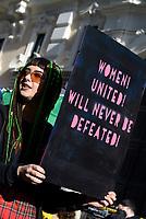 Roma, 20 Gennaio 2018<br /> Women's march Rome, per i diritti civili  contro la violenza sulle donne e contro Trump in contemporanea con la manifestazione negli Stati Uniti d'America