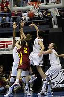 BERKELEY, CA - MARCH 30: Jillian Harmon blocks a shot during Stanford's 74-53 win against the Iowa State Cyclones on March 30, 2009 at Haas Pavilion in Berkeley, California.