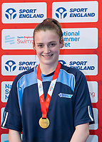 Picture by Allan McKenzie/SWpix.com - 05/08/2017 - Swimming - Swim England National Summer Meet 2017 - Ponds Forge International Sports Centre, Sheffield, England - Holly Hudghton takes gold in the womens 16yrs 100m backstroke.