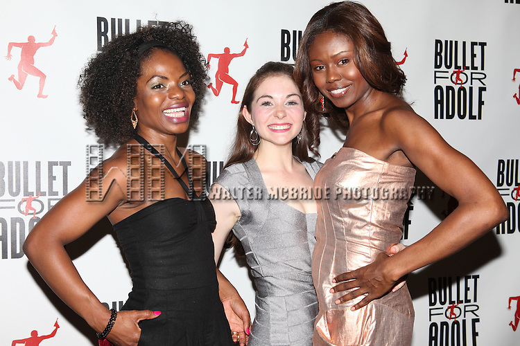 Marsha Stephanie Blake, Shannon Garland &  Shamika Cotton attending the Opening Night Performance After Party for 'Bullet For Adolf' at Hurley's Saloon in New York City on 8/8/2012.