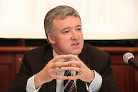 NO REPRO FEE. 20/5/2011. Irish Council for Civil Liberties- Tell UN of Irelands failure to combat inhuman and degrading treatment. Pictured at a press Briefing in Buswells Hotel, Dublin is Liam Herrick, Irish Penal Reform Trust.  Picture James Horan/Collins Photos