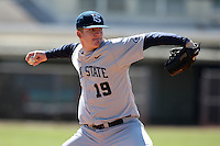 February 28, 2010:  Pitcher Steven Hill (19) of the Penn State Nittany Lions during the Big East/Big 10 Challenge at Raymond Naimoli Complex in St. Petersburg, FL.  Photo By Mike Janes/Four Seam Images
