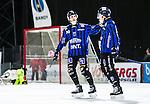 Uppsala 2015-03-10 Bandy Elitseriekval IK Sirius - Falu BS :  <br /> Sirius Ilja Grachev firar sitt 3-1 m&aring;l med Adam Rudell under matchen mellan IK Sirius och Falu BS <br /> (Foto: Kenta J&ouml;nsson) Nyckelord:  Bandy Elitserien Elitseriekval Kval Kvalserien Uppsala Studenternas IP IK Sirius IKS Falun Falu BS jubel gl&auml;dje lycka glad happy