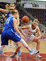 Archbishop Wood's Bailey Greenberg #21 battles for a loose ball with Villa Maria's Sarah Agnello #13 the first quarter of the girls basketball PIAA Class AAA state championship game Saturday March 19, 2016 at the Giant Center in Hershey, Pennsylvania (Photo By William Thomas Cain)