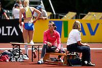 Photo: Richard Lane/Richard Lane Photography..Aviva World Trials & UK Championships athletics. 12/07/2009. Kelly Sotherton during the women's high jump.
