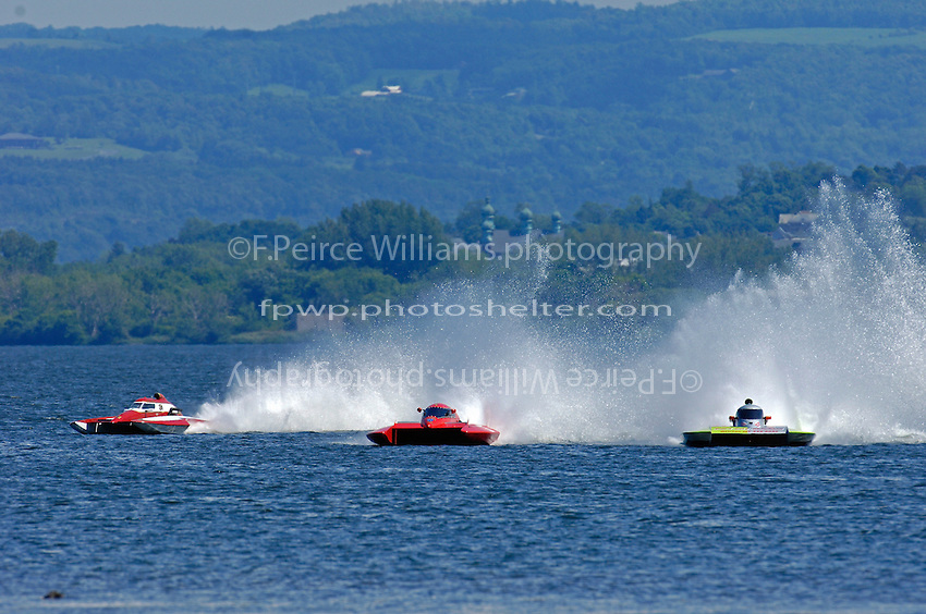 (L to R):Bernard Lapierre, CE-3, Kelly Shane, E-77 and Derec Smith, CE-13 (5 Litre class hydroplane(s)