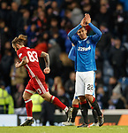 Bruno Alves applauding the Rangers fans