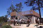 Horseback riders at Observation Deck,  sand hills