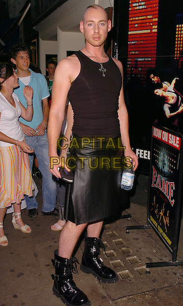 "DAN BRYAN (BIG BROTHER).Attends the 10th Anniversary Performance of ""Fame: The Musical"", Aldwych Theatre, London, June 27th 2005..full length byan black skirt boots vest top.Ref: CAN.www.capitalpictures.com.sales@capitalpictures.com.©Can Nguyen/Capital Pictures"