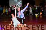 Siobhain Daly and Lesek Brzozka dancing their winning dance  at the Castleisland Strictly Come Dancing on Friday night