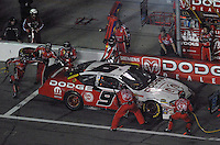Feb 10, 2007; Daytona, FL, USA; Nascar Nextel Cup driver Kasey Kahne (9) pits during the Budweiser Shootout at Daytona International Speedway. Mandatory Credit: Mark J. Rebilas.