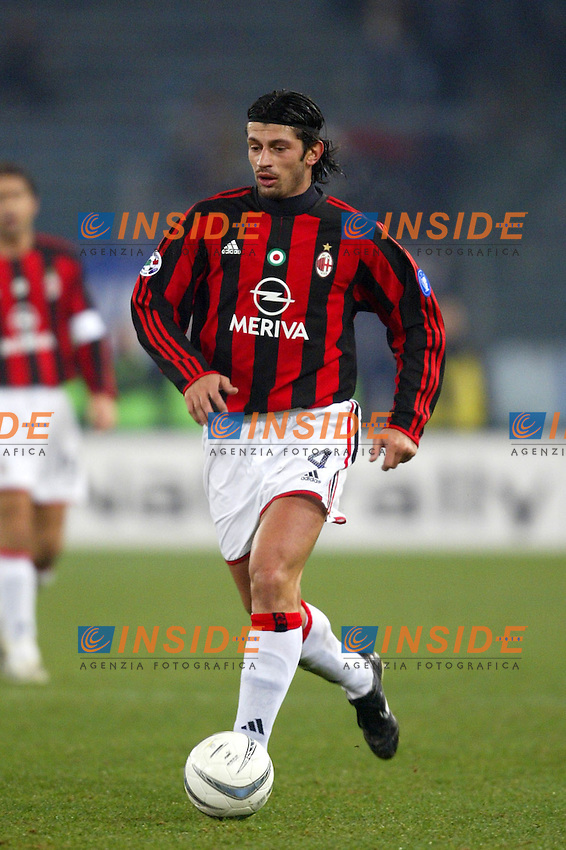 Roma 11/2/2004  Coppa Italia Semifinale / Italy Cup <br /> Lazio Milan 4-0 <br /> Kakha Kaladze (Milan)<br /> Foto Andrea Staccioli Insidefoto