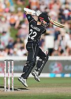 New Zealand captain Kane Williamson batting. New Zealand Blackcaps v England. One Day International Cricket. Seddon Park, Hamilton, New Zealand on Sunday 25 February 2018.<br /> <br /> Copyright photo: &copy; Bruce Lim / www.photosport.nz