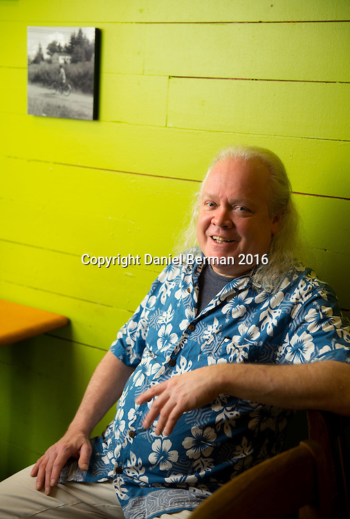 Nollies Cafe Owner Dan Munro at his South Lake Union bakery and coffeeshop, a fixture in the neighborhood for 43 years. Photo by Daniel Berman for Discover South Lake Union
