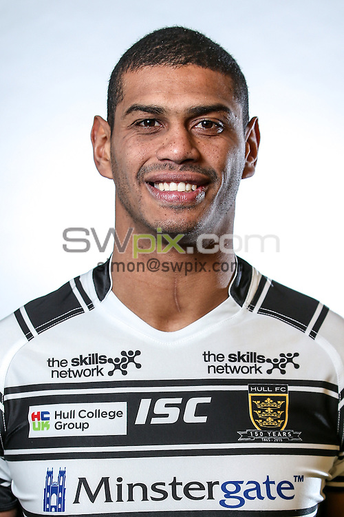 Picture by Alex Whitehead/SWpix.com - 24/01/2015 - Rugby League - First Utility Super League - Hull FC Headshots - KC Stadium, Hull, England - Leon Pryce