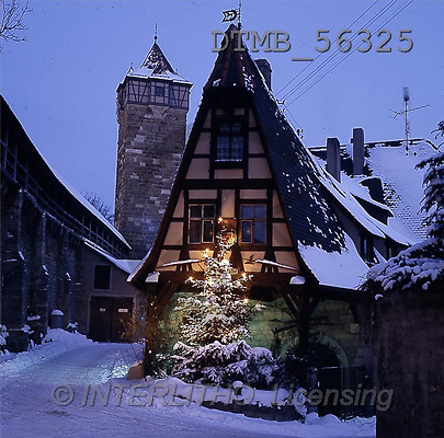 Gerhard, CHRISTMAS LANDSCAPE, photos, rothenburg germany(DTMB56325,#XL#) Landschaften, Weihnachten, paisajes, Navidad